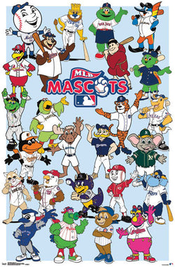 MLB Baseball Team Mascots (25 Characters) Official Poster - Trends International