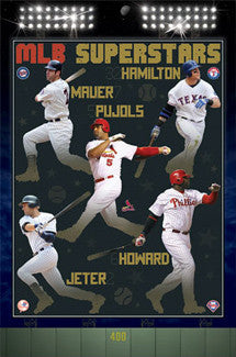 MLB Baseball Superstars (2011) 5-Player Poster - Costacos Sports Inc.