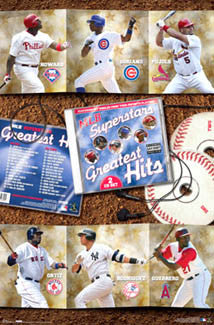 MLB Superstars 2007 Poster (Pujols, Ortiz, A-Rod, Guerrero, Howard) - Costacos Sports