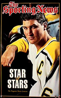 "Mario Lemieux ""Star of Stars"" Pittsburgh Penguins Sporting News Poster - Norman James Corp. 1997"