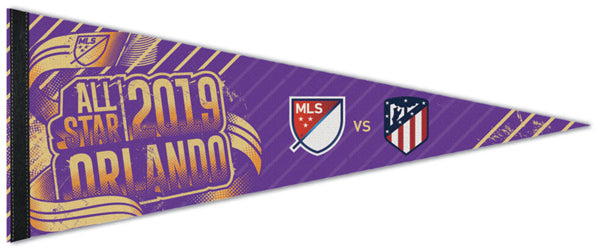 MLS Soccer All-Star Game 2019 Orlando (MLS vs. Atletico Madrid) Premium Felt Collector's Pennant - Wincraft Inc.