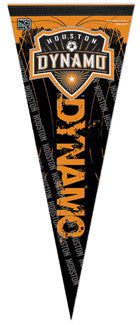 Houston Dynamo MLS Soccer Premium Felt Collector's Pennant (Vertical Style) - Wincraft Inc.