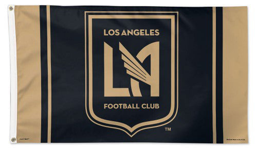Los Angeles FC LAFC MLS Soccer Official Team 3'x5' DELUXE Flag - Wincraft Inc.