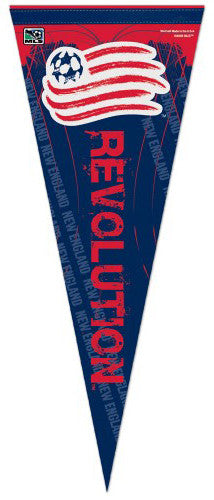 New England Revolution Official MLS Soccer Premium Felt Collector's Pennant - Wincraft Inc.