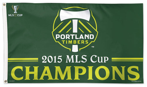 Portland Timbers MLS Cup Champions 2015 Official MLS Soccer DELUXE 3' x 5' Flag - Wincraft Inc.