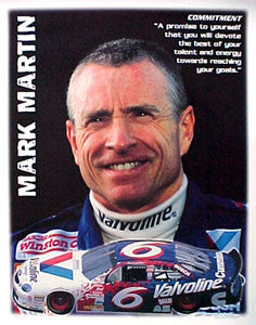 "Mark Martin ""Commitment"" NASCAR Racing Superstar Inspirational Poster - SMR 1998"