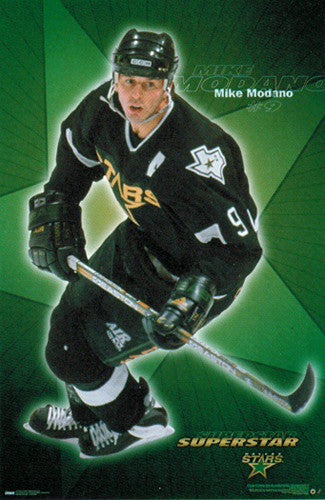 "Mike Modano ""Superstar"" Dallas Stars NHL Hockey Action Poster - Costacos 2000"