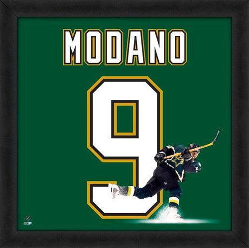 "Mike Modano ""Number 9"" Dallas Stars NHL FRAMED 20x20 UNIFRAME PRINT - Photofile"