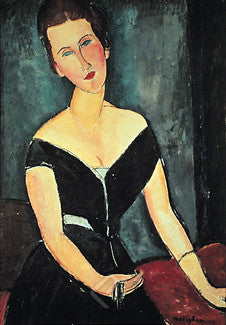Madame G. Van Muyden (1917) by Amadeo Modigliani - Eurographics