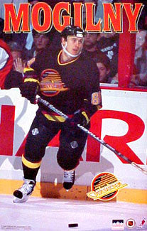 "Alexander Mogilny ""Action"" Vancouver Canucks Poster - Starline 1996"