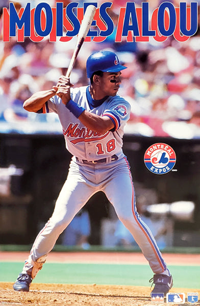 "Moises Alou ""Superstar"" Montreal Expos MLB Baseball Action Poster - Starline 1994"