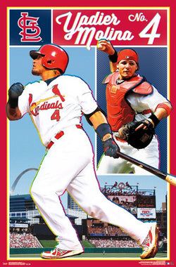 "Yadier Molina ""Catcher-Slugger"" St. Louis Cardinals Official MLB Baseball Poster - Trends International"