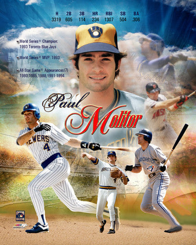Paul Molitor MLB Legend Commemorative Premium Poster Print  - Photofile Inc.