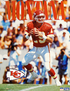 "Joe Montana ""Chiefs Action"" (16x20) Kansas City Chiefs Poster - Starline 1993"