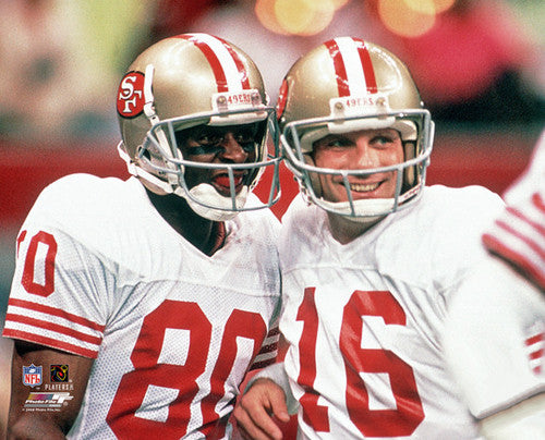 "Joe Montana and Jerry Rice ""Image of an Era"" (1988) Premium Poster Print - Photofile"