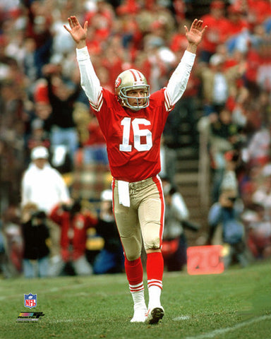 "Joe Montana ""Victory!"" (c.1989) San Francisco 49ers Premium Poster Print - Photofile Inc."