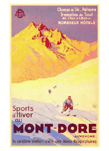 Mont-Dore (Auvergne) (1935) - Clouet Vintage Reprints