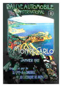 Monte Carlo Rally 1912 - Clouet Vintage Reprints