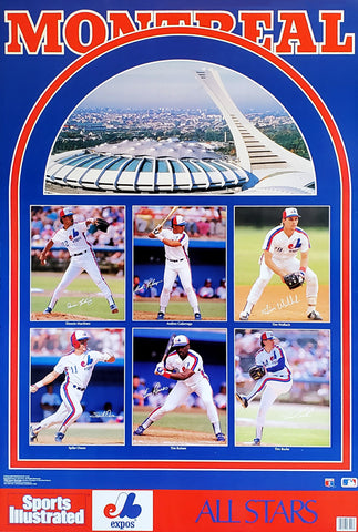 "Montreal Expos ""All-Stars"" Poster (Raines, Wallach, Martinez, Galarraga) - Marketcom Sports Illustrated 1989"
