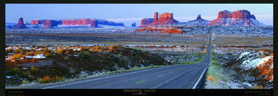 Monument Valley Snowfall Panoramic Poster Print - Pecheur 2008