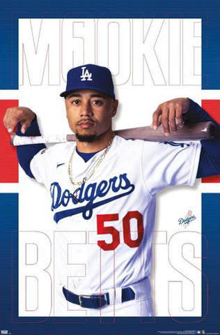 "Mookie Betts ""Superstar"" Los Angeles Dodgers MLB Baseball Poster - Trends 2020"