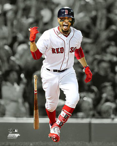 "Mookie Betts ""Spotlight Slam"" (2018) Boston Red Sox Premium MLB Poster Print - Photofile 16x20"