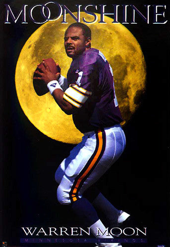 "Warren Moon ""Moonshine"" Minnesota Vikings Poster - Costacos 1994"