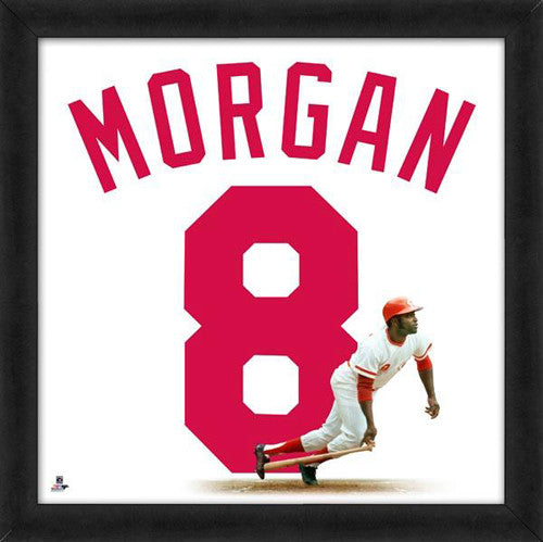 "Joe Morgan ""Number 8"" Cincinnati Reds MLB FRAMED 20x20 UNIFRAME PRINT - Photofile"
