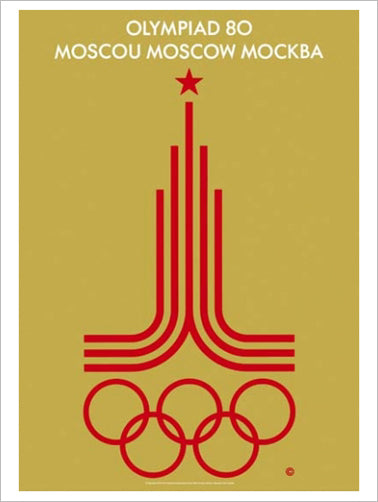 Moscow 1980 Summer Olympic Games Official Poster Reprint - Olympic Museum