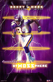 "Randy Moss ""atMOSSphere"" Minnesota Vikings Poster - Starline 2002"