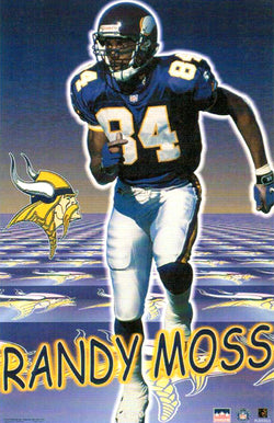 "Randy Moss ""Matrix"" Minnesota Vikings Poster - Starline 1999"