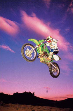 "Dirt Bike Racing ""Desert Sunset Jump"" Motocross Action Poster - Eurographics"