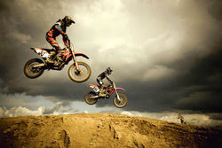 "Motocross Action ""Dirt Bikes Airborn"" Poster - Eurographics Inc."