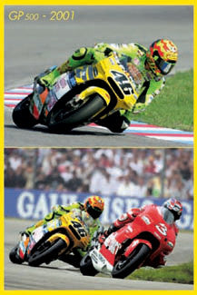 "Valentino Rossi ""Champion"" MotoGP Motorcycle Racing Poster - Nuova 2002"