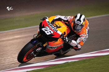 "Dani Pedrosa MotoGP ""Deep Lean"" - Pyramid (UK)"
