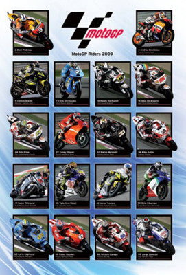 MotoGP 2009 Riders Roster Action Poster - Pyramid (UK)