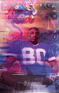 "Eric Moulds ""Masterpiece"" Buffalo Bills Vintage Original Poster - Costacos 2000"