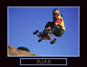 "Mountainboarding ""Risk"" Motivational Poster - Front Line"