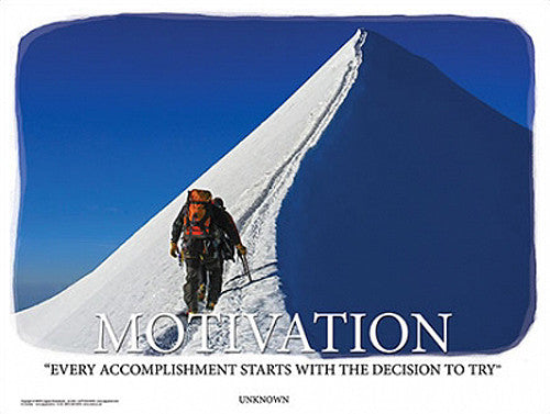 "Mountain Climbing ""Motivation"" Inspirational Poster - Jaguar Inc."