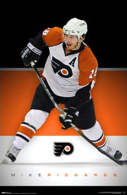 "Mike Richards ""Playmaker"" Philadelphia Flyers Poster - Costacos 2008"
