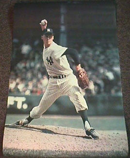 Mel Stottlemyre New York Yankees Original Poster - Major League Posters 1968