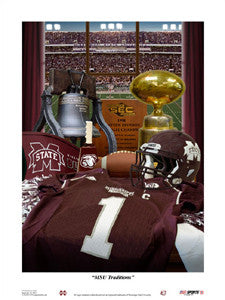 "Mississippi State University Football ""Traditions"" Print - USA Sports"