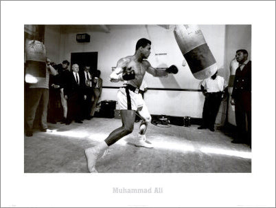 "Muhammad Ali ""Training Session"" (c.1964) Classic Boxing Poster Print - GB Posters (UK)"