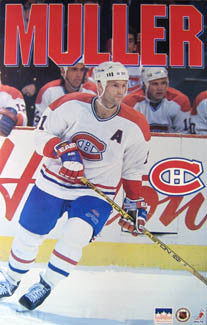 "Kirk Muller ""Habs Action"" Montreal Canadiens Poster - Starline 1994"
