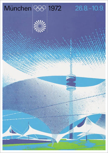 Munich 1972 Summer Olympic Games Official Poster Reprint - Olympic Museum
