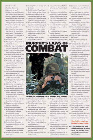 Murphy's Laws of Combat American Military Poster - American Image Coll.