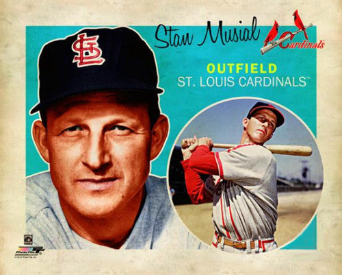 "Stan Musial ""Retro SuperCard"" St. Louis Cardinals Premium Poster Print - Photofile 16x20"