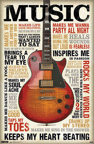 Music Inspires Me Motivational Inspirational Poster - Trends International Inc.