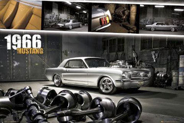 "Ford Mustang ""1966 Mustang Glory"" Autophile Profile Poster - GB Eye inc."