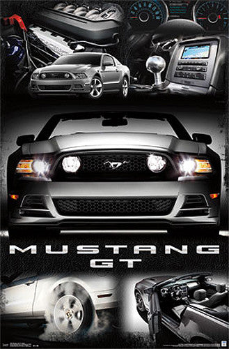 Ford Mustang GT 2014 Official Autophile American Muscle Car Poster - Trends International